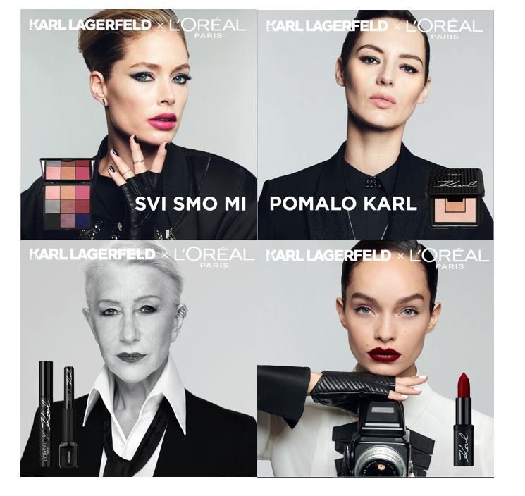Karl Lagerfeld X L'Oréal Paris – jedna od poslednjih kolboracija sa ličnim pečatom modnog genija