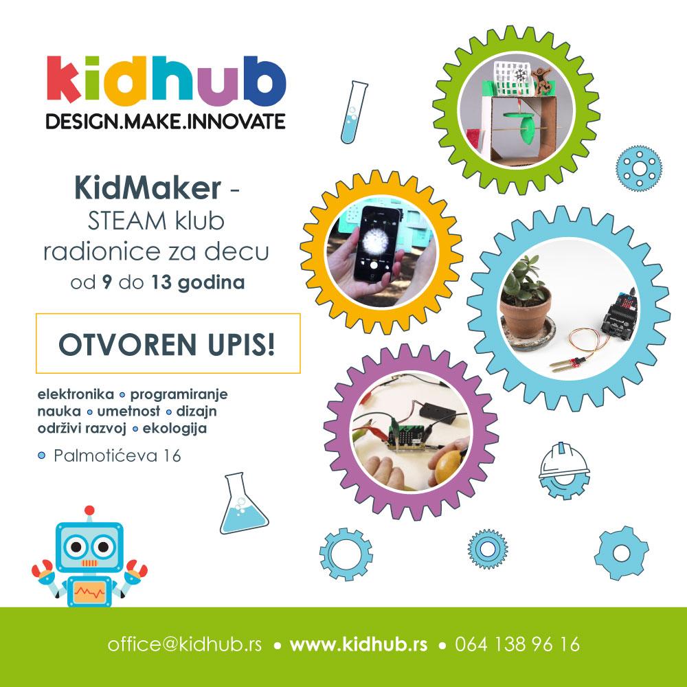KidHub tokom zimskog raspusta pokreće KidMaker