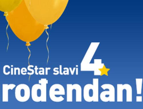 Proslavi 4. rođendan bioskopa CineStar 25. februara
