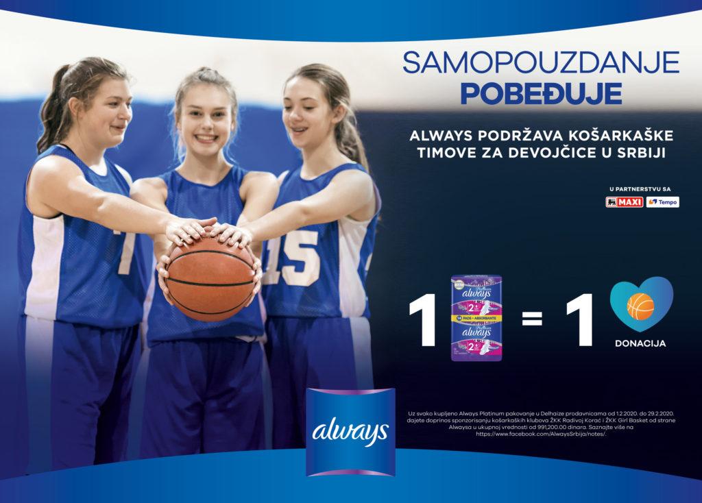 Always podržava ženske košarkaške timove u Srbiji