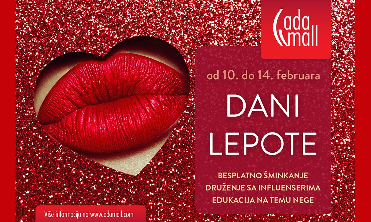 Dani lepote od 10. do 14. februara u Ada Mall-u