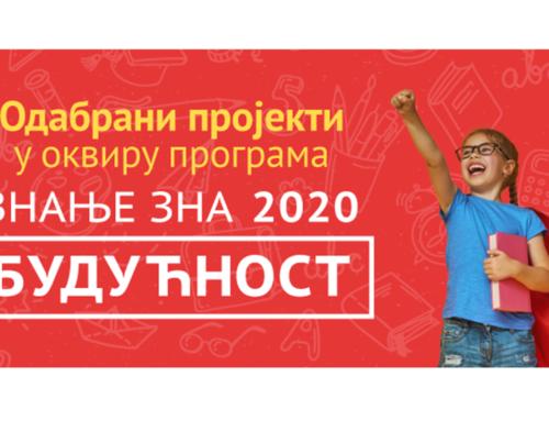"""DIS izabrao najbolje projekte u okviru programa podrške obrazovanju mladih """"Znanje zna budućnost 2020"""""""