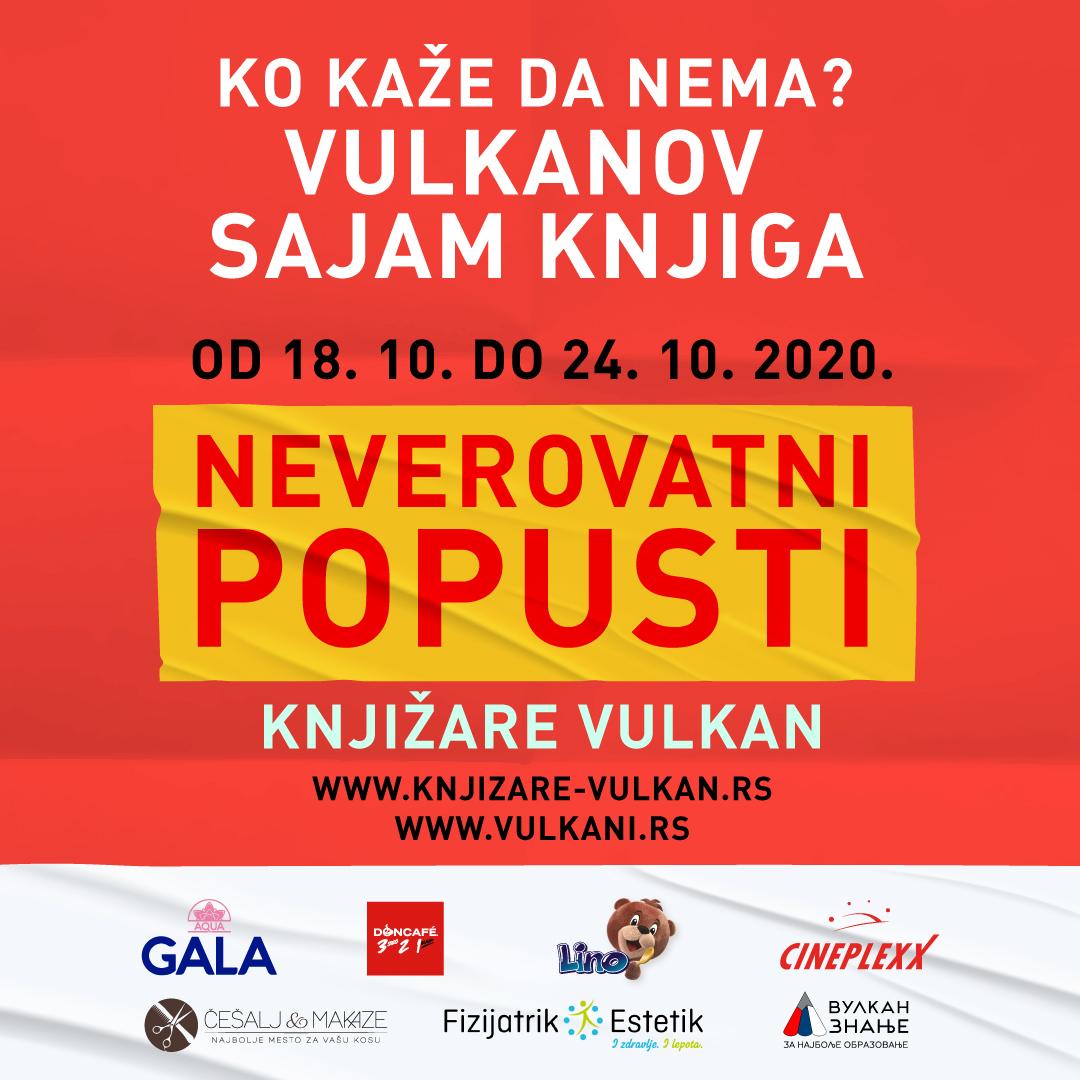 Neverovatni popusti na Vulkanovom sajmu knjiga od 18. do 24. oktobra širom Srbije