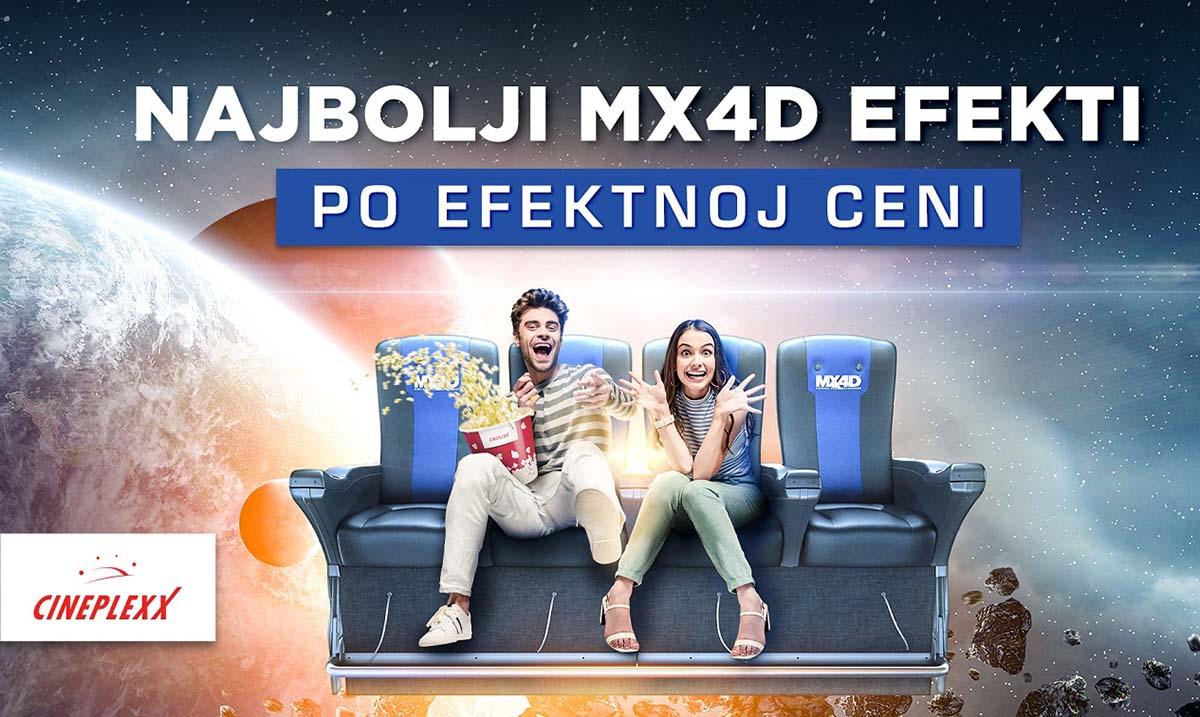Odlična ponuda 4D filmova u Cineplexx 4D Delta City bioskopu