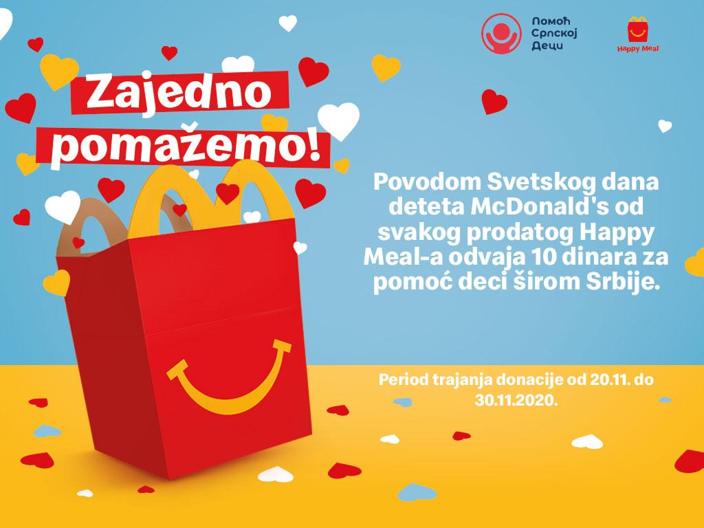 McDonald's i ove godine obeležava Svetski dan deteta