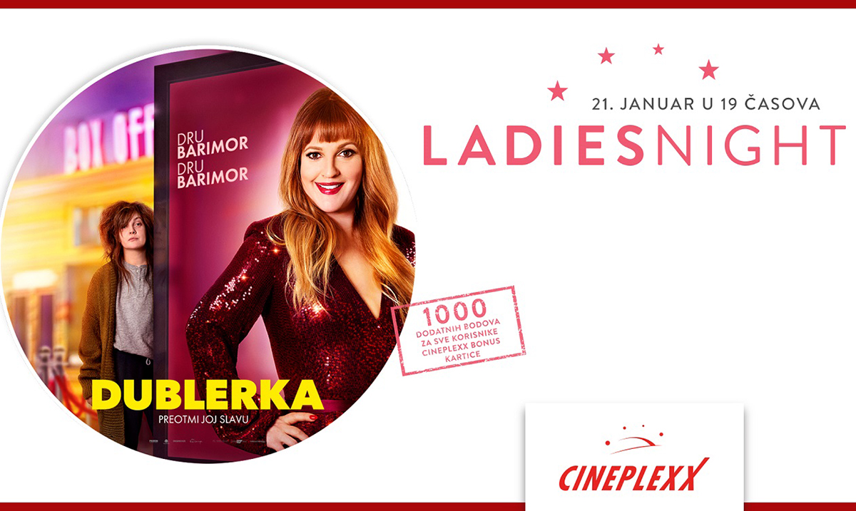 Ladies Night uz film Dublerka 21. januara u Cineplexx bioskopima
